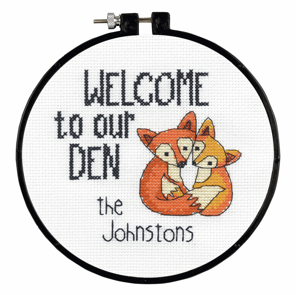 Picture of Learn-a-Craft: Counted Cross Stitch Kit with Hoop: Our Den