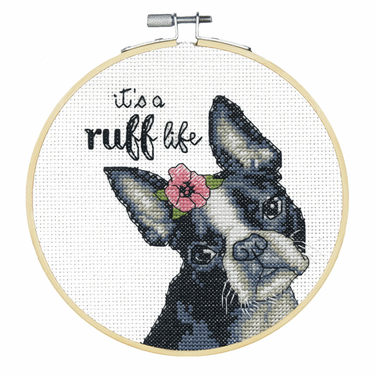 Picture of Counted Cross Stitch Kit: with Hoop: It's a Ruff Life