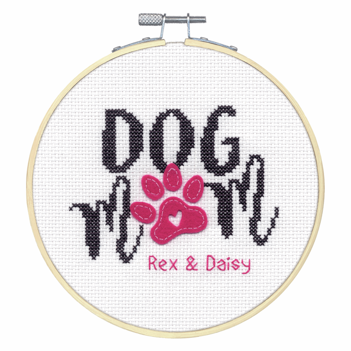 Picture of Counted Cross Stitch Kit with Hoop: Dog Mom