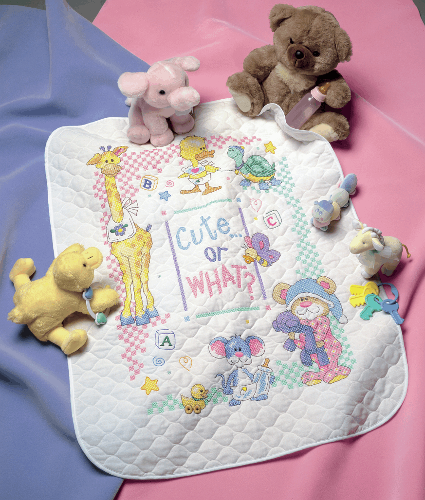 Picture of Stamped Cross Stitch: Quilt: Cute Or What?