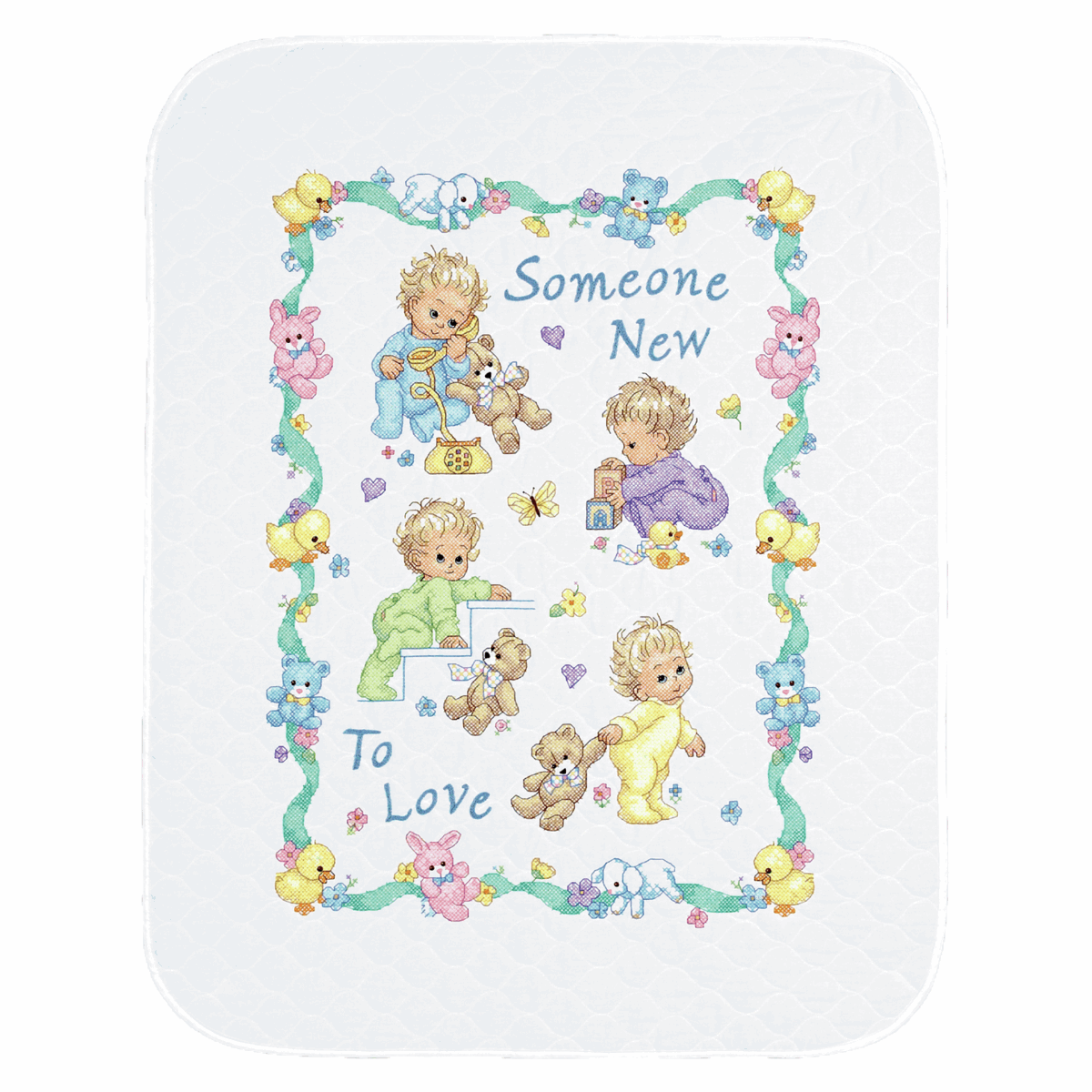 Picture of Stamped Cross Stitch: Quilt: Someone New Baby