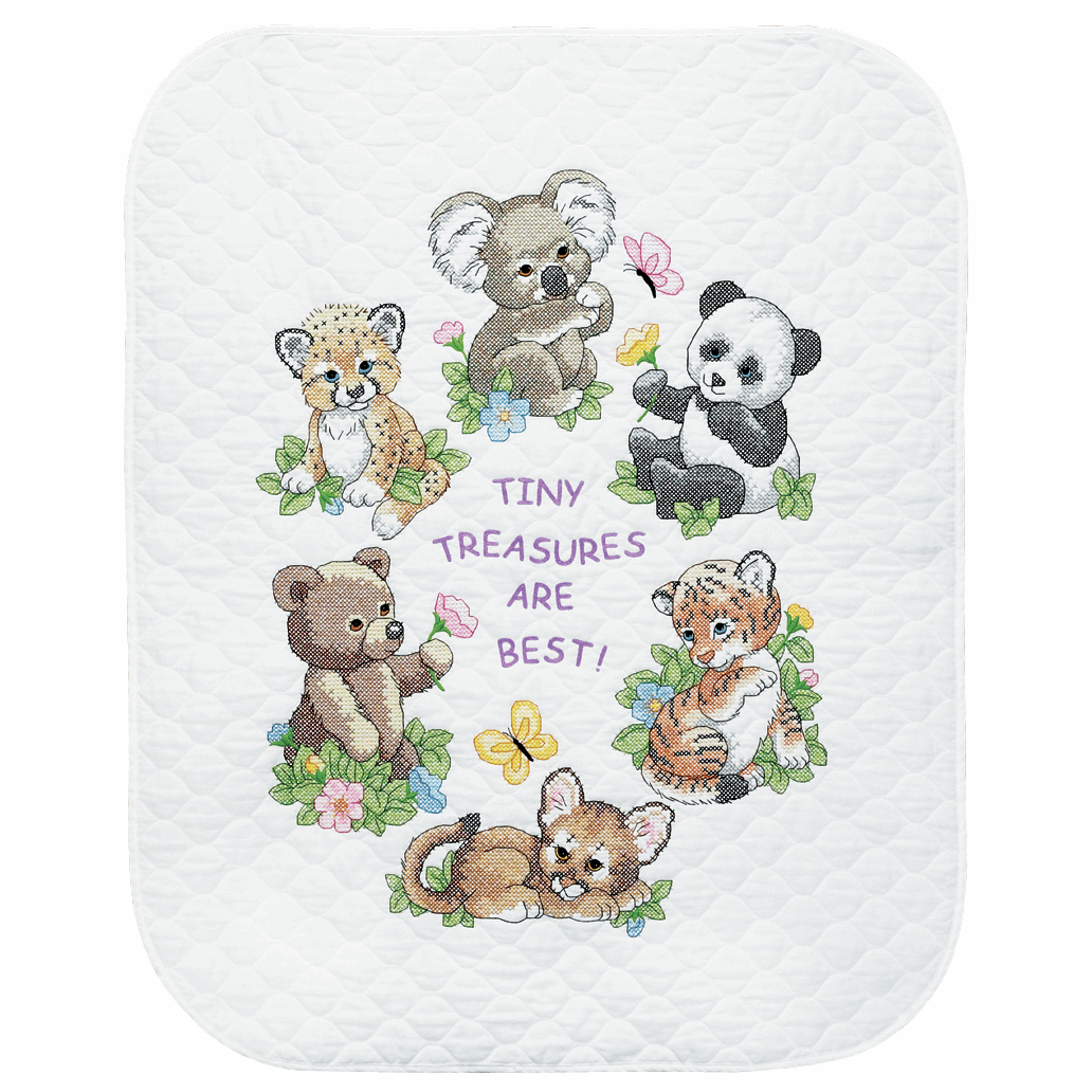 Picture of Stamped Cross Stitch: Quilt: Baby Animals