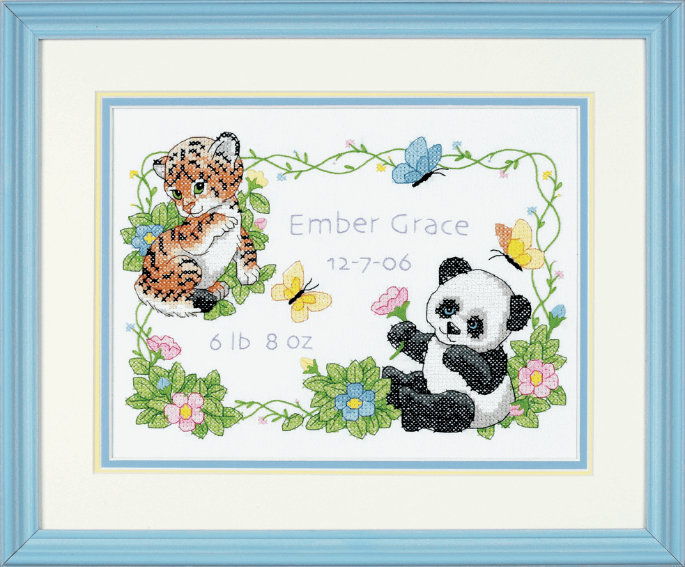 Picture of Stamped Cross Stitch: B/Record: Baby Animals