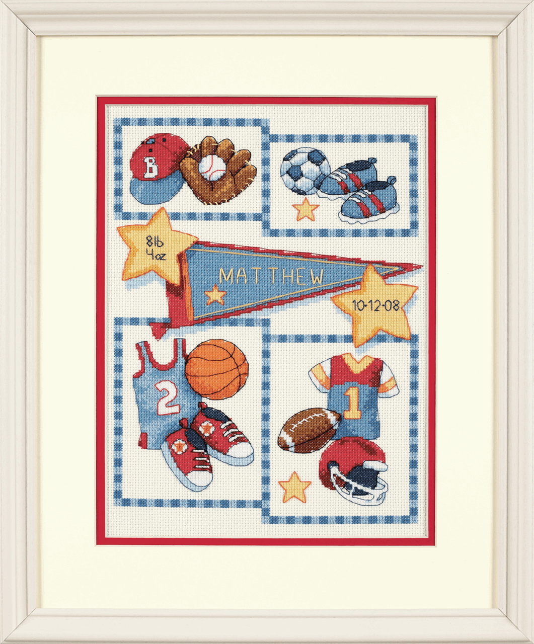 Picture of Counted Cross Stitch: B/Record: Little Sports