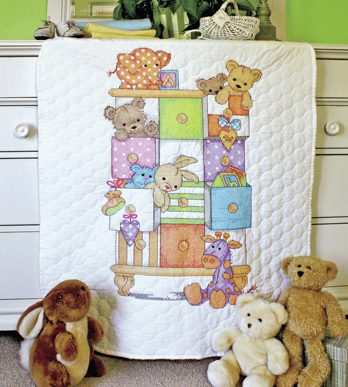 Picture of Stamped Cross Stitch: Quilt: Baby Drawers