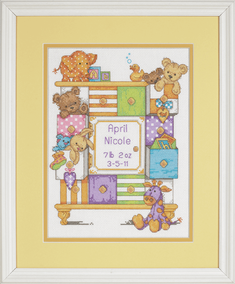 Picture of Counted Cross Stitch: B/Record: Baby Drawers