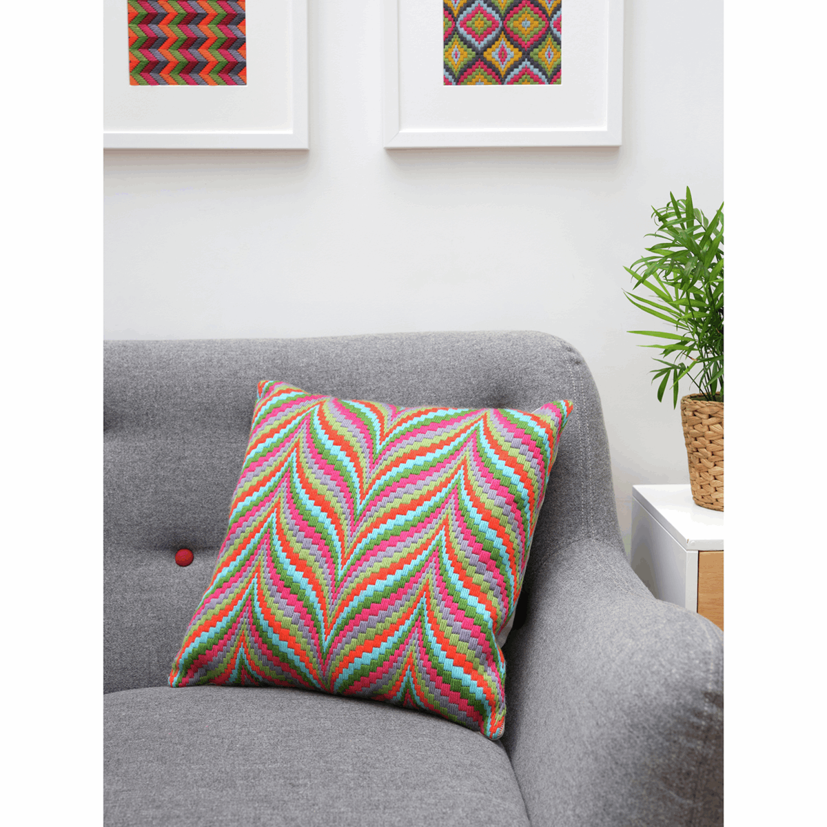 Picture of Tapestry Kit: Cushion: Essentials: Tina Francis: Bargello: Multi
