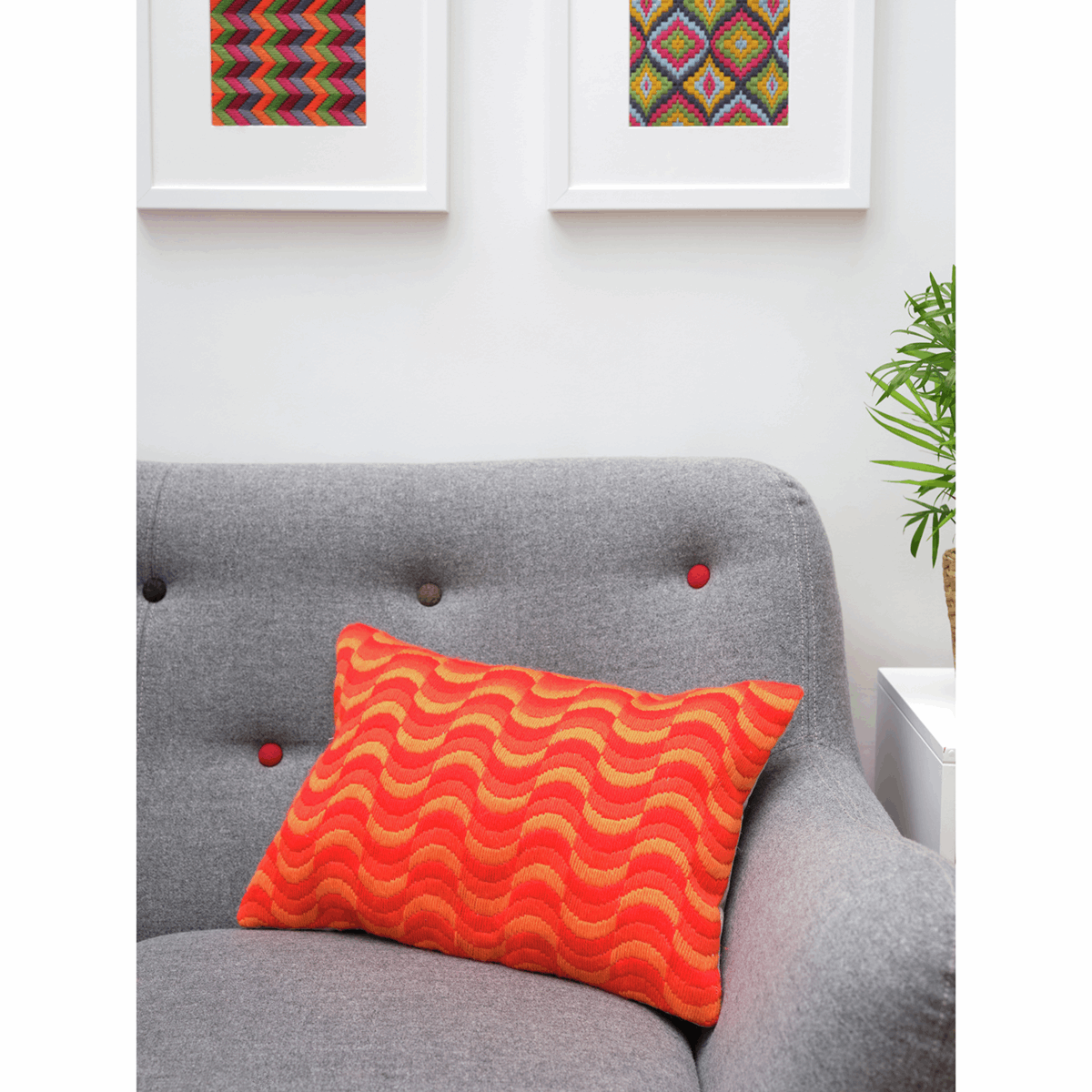 Picture of Tapestry Kit: Cushion: Essentials: Tina Francis: Bargello: Wave