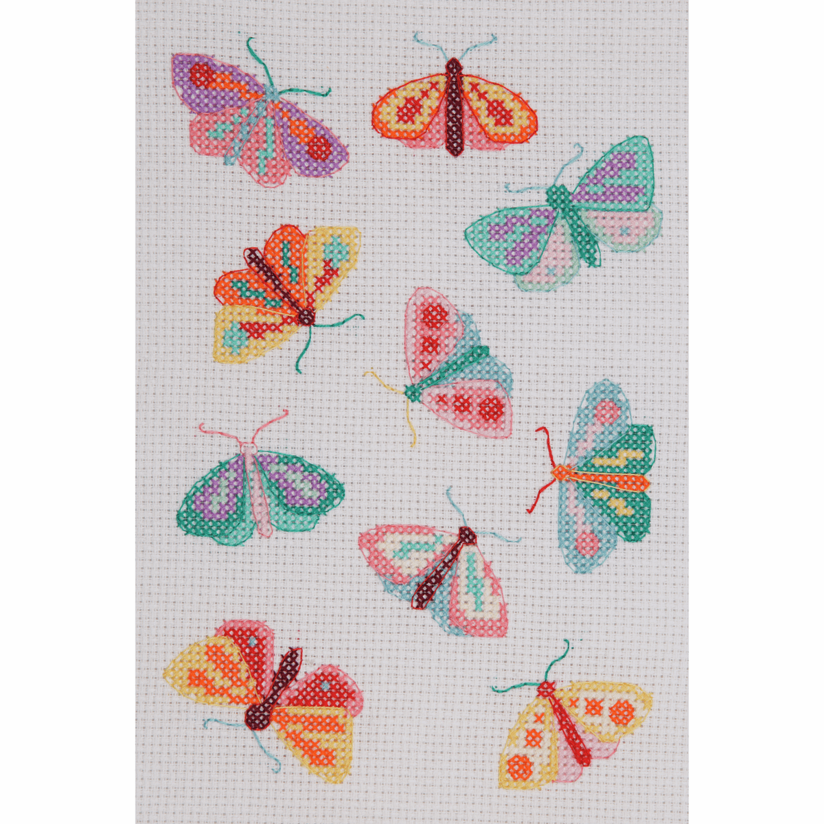 Picture of Counted Cross Stitch Kit: Starter: Maggie Magoo: Moths & Butterflies