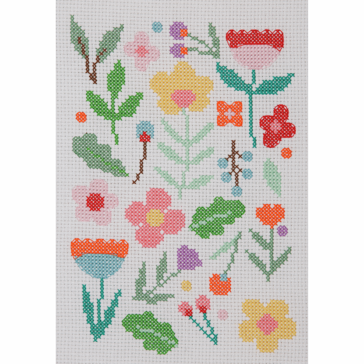 Picture of Counted Cross Stitch Kit: Starter: Maggie Magoo: Floral Scatter