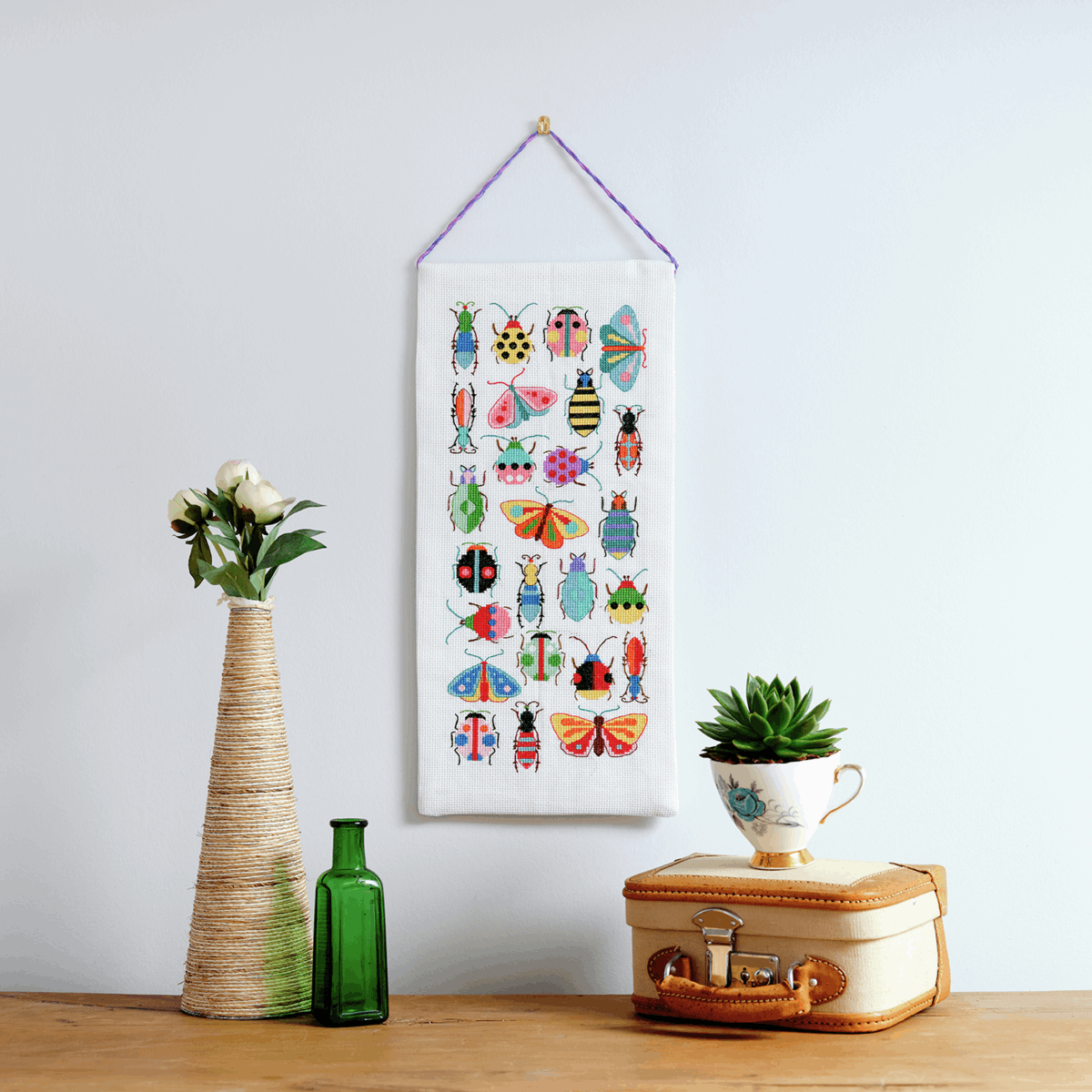 Picture of Counted Cross Stitch Kit: Essentials: Maggie Magoo: Bugs & Moths