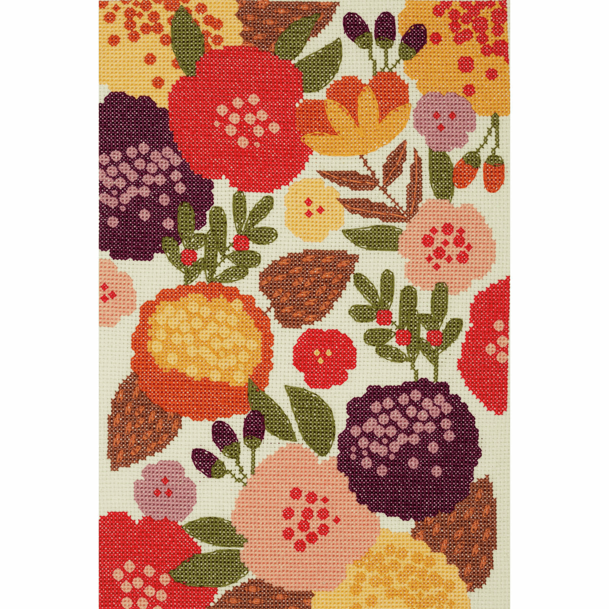 Picture of Counted Cross Stitch Kit: Maggie Magoo: Vibrant Floral