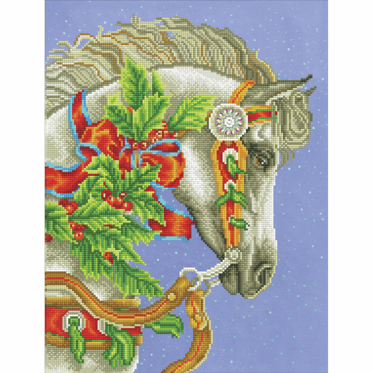 Picture of Diamond Painting Kit: Festive Canter