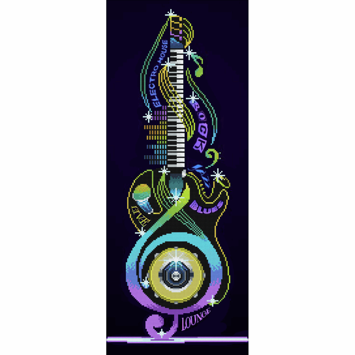 Picture of Diamond Painting Kit: Guitar Icon