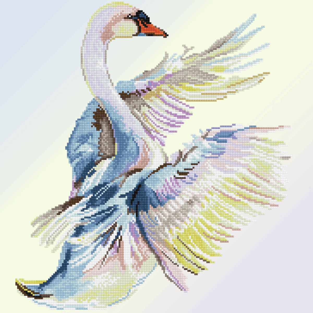 Picture of Diamond Painting Kit: Graceful Landing