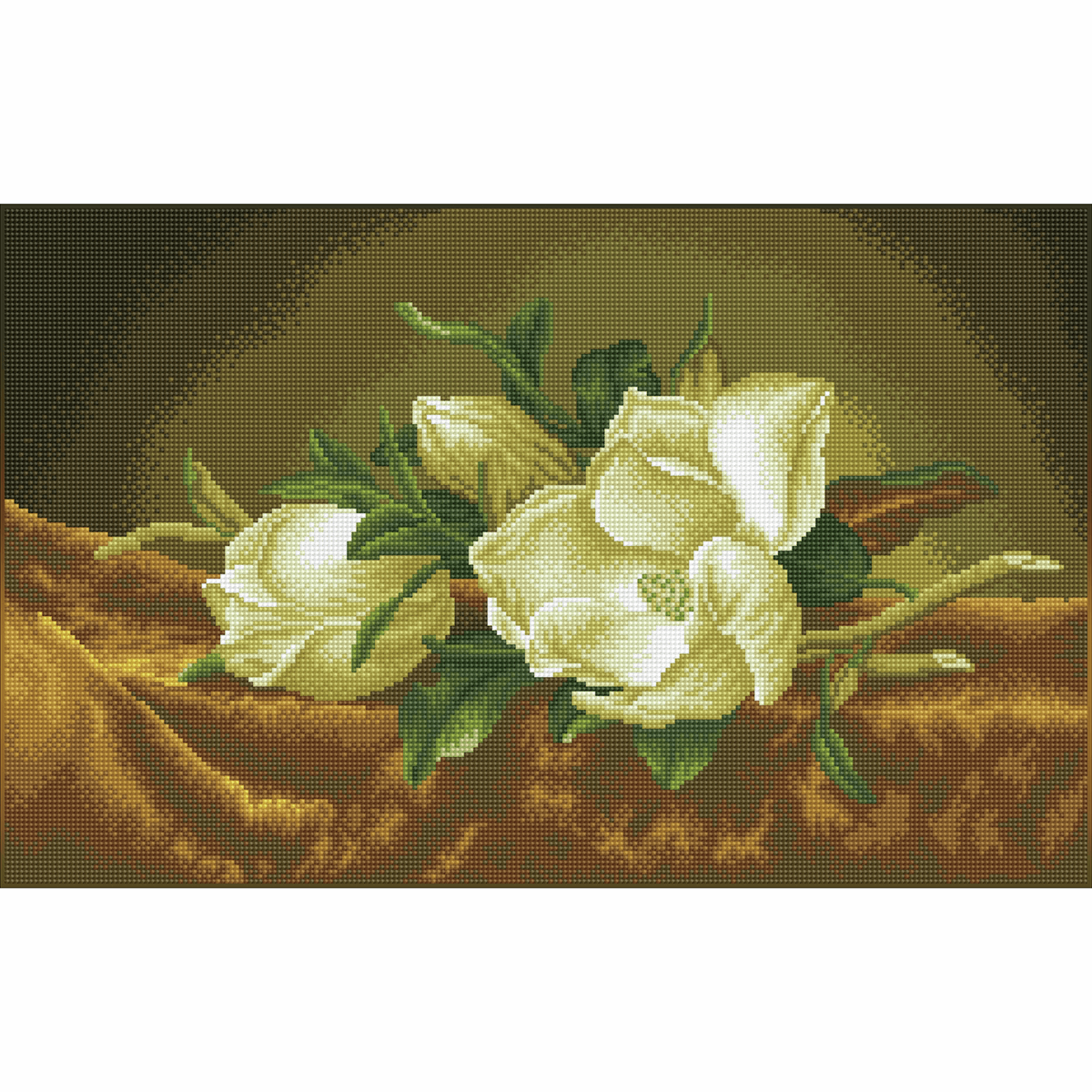 "Picture of Diamond Painting Kit: ""Magnolias on Gold Velvet (Après Martin Johnson Heade)"""