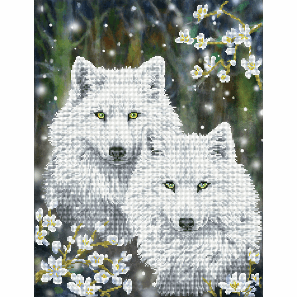 Picture of Diamond Painting Kit: Winter Wolves