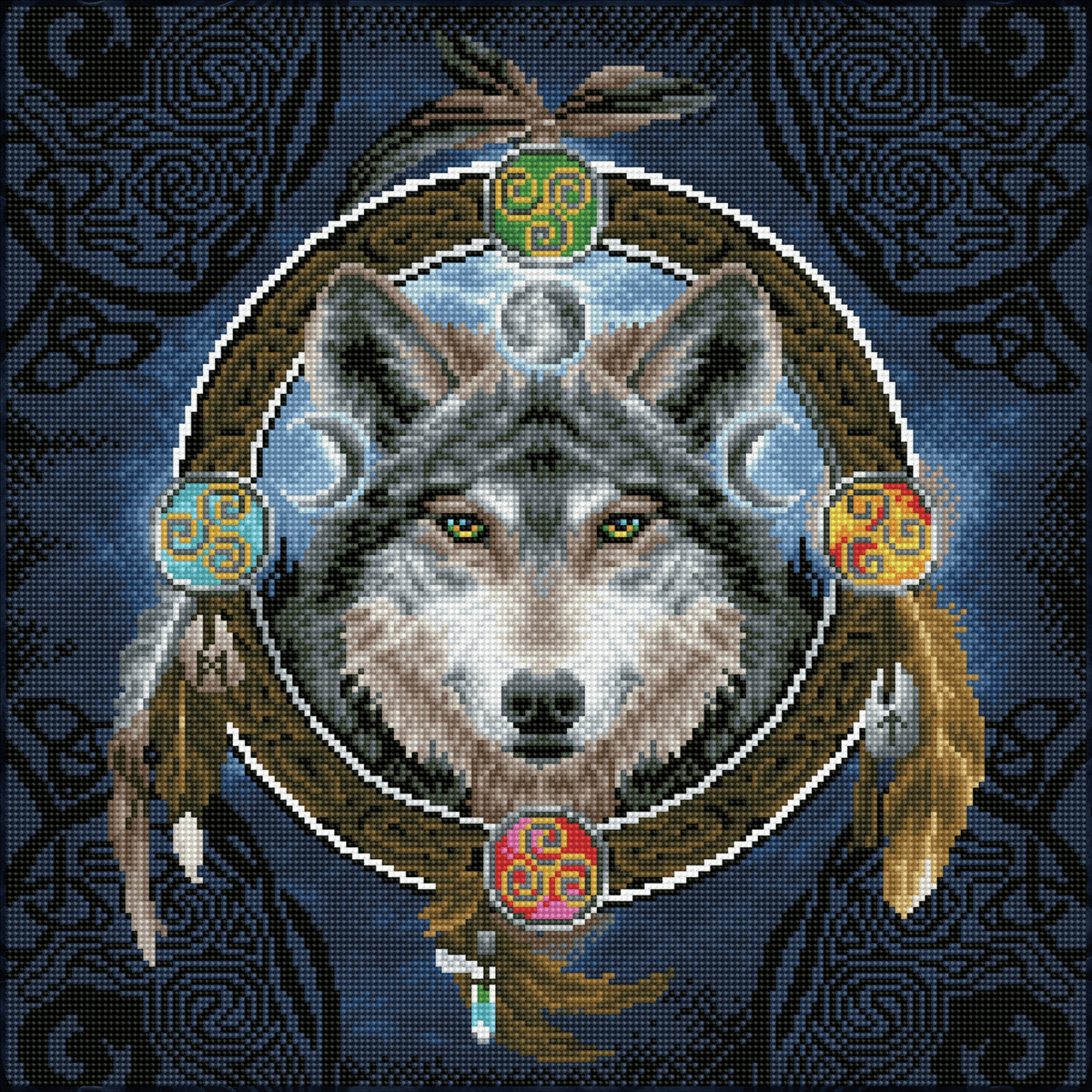 Picture of Diamond Painting Kit: Celtic Wolf Guide