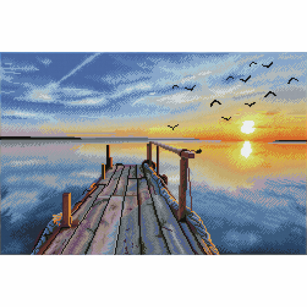 Picture of Diamond Painting Kit: Sunset Jetty