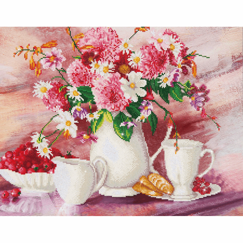 Picture of Diamond Painting Kit: Romantic Tea Time