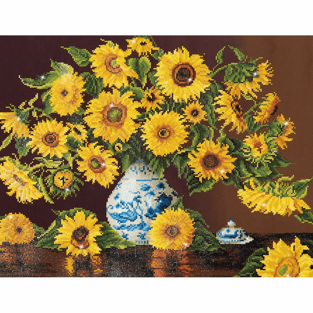 Picture of Diamond Painting Kit: Sunflowers In A China Vase