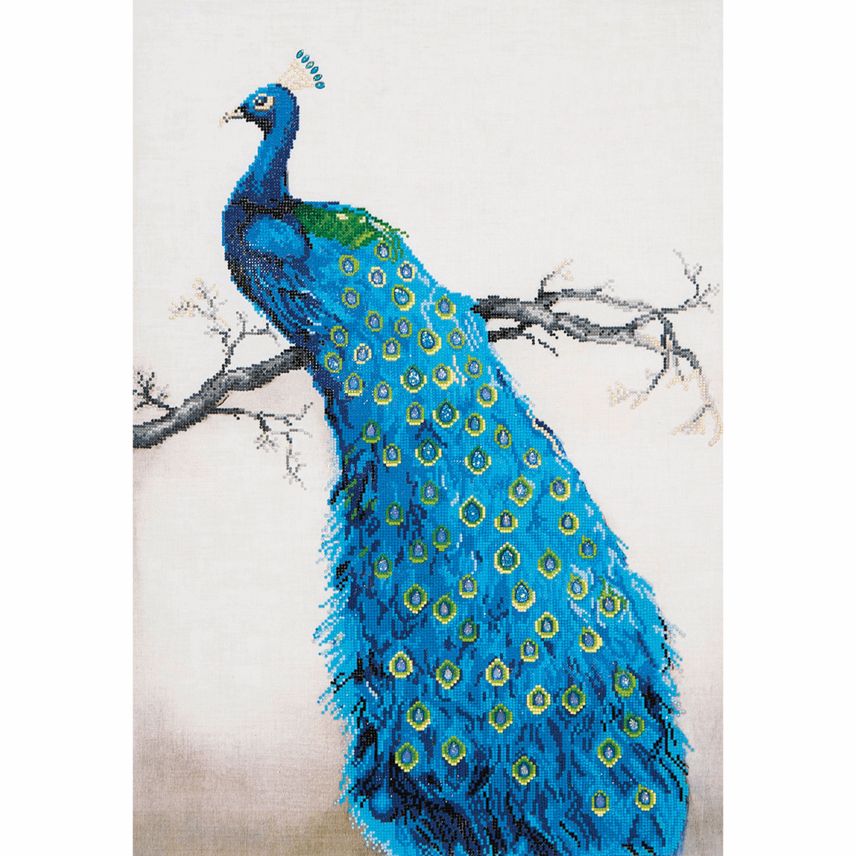 Picture of Diamond Painting Kit: Blue Peacock