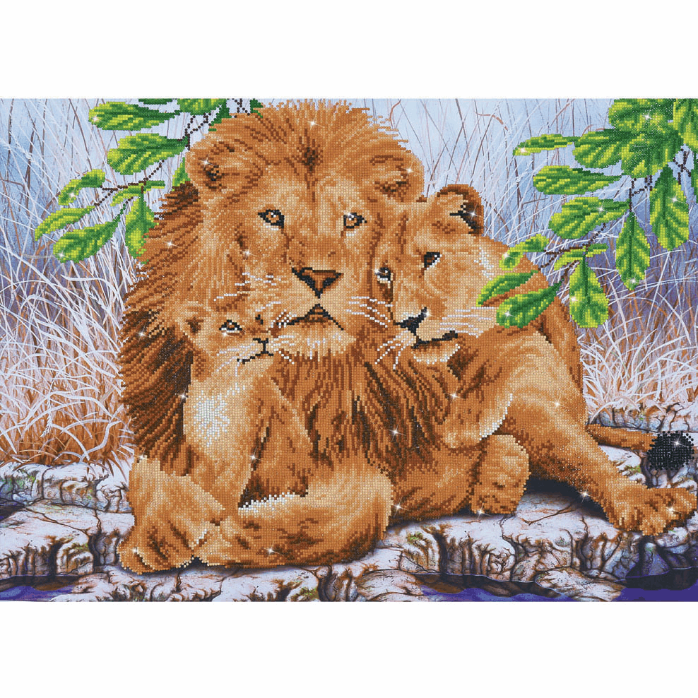 Picture of Diamond Painting Kit: Lion Family