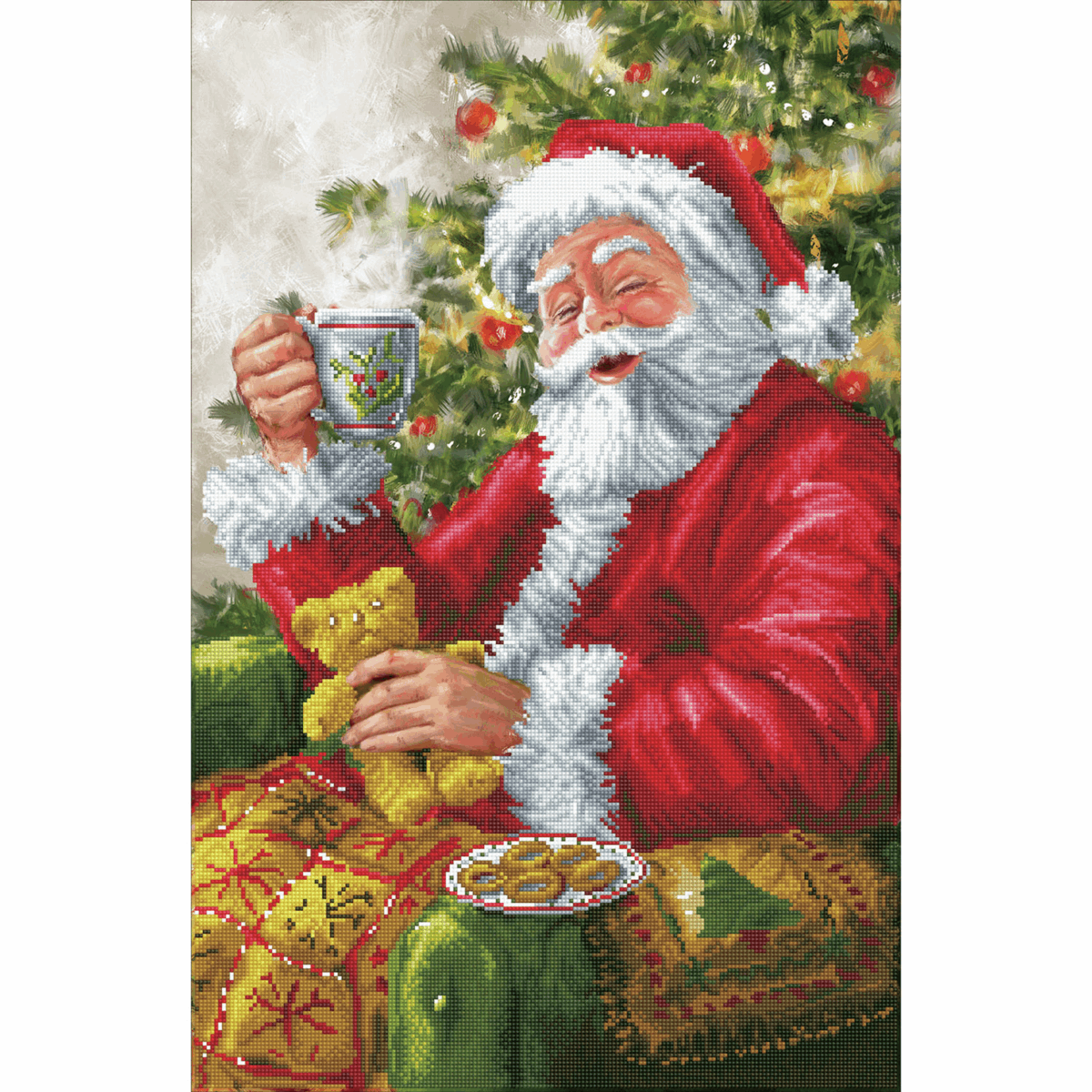 Picture of Diamond Painting Kit: Santa's Cuppa
