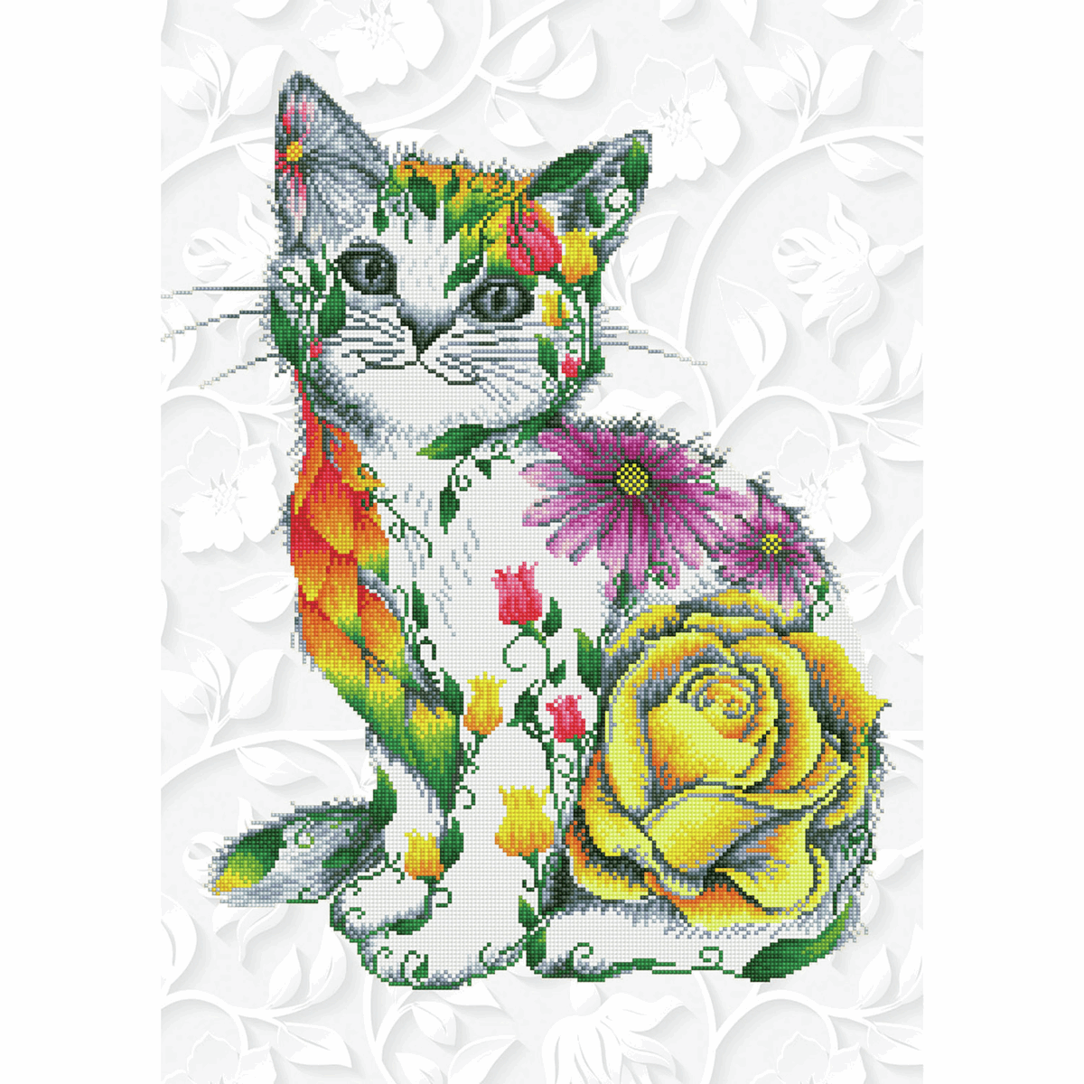 Picture of Diamond Painting Kit: Flower Puss