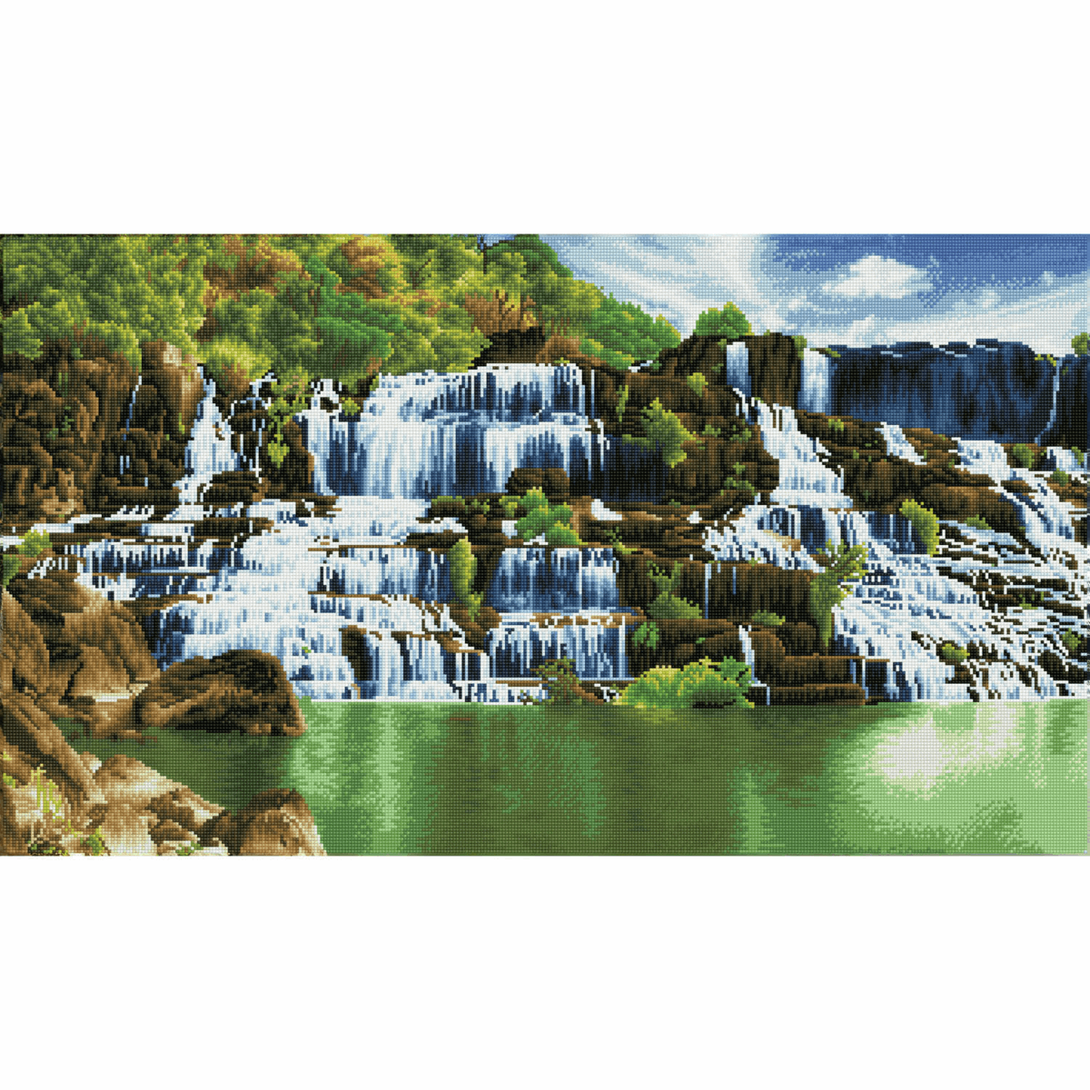 Picture of Diamond Painting Kit: Pongour Waterfall