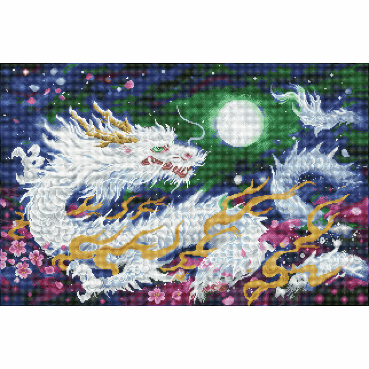 Picture of Diamond Painting Kit: Dragon Flame