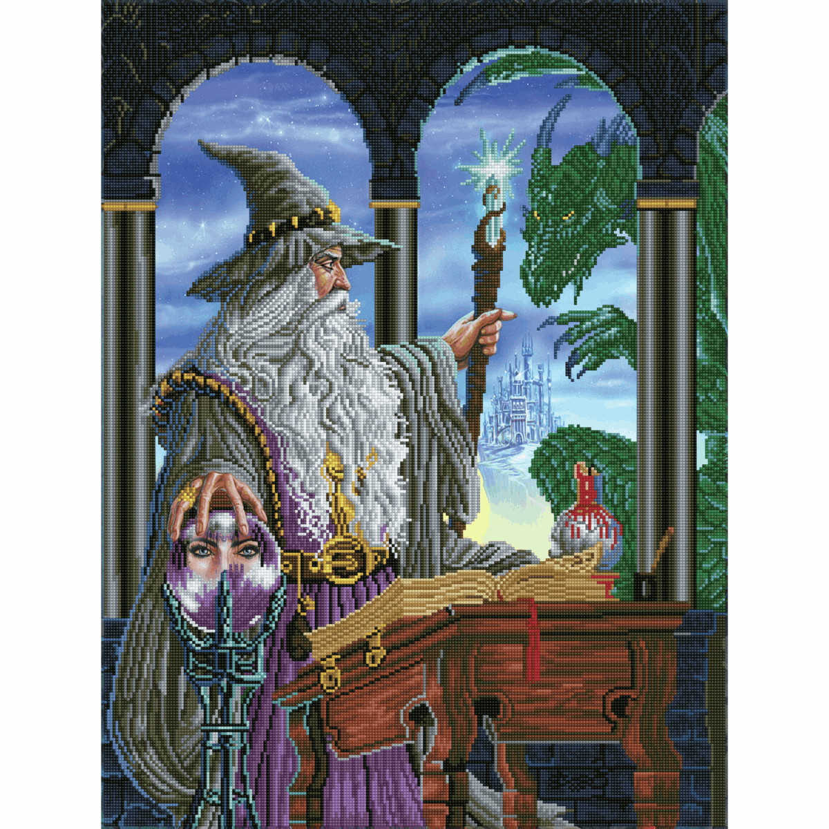 Picture of Diamond Painting Kit: Wizard's Emissary