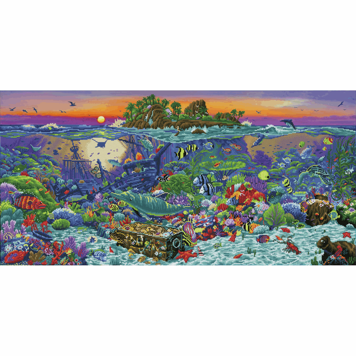Picture of Diamond Painting Kit: Coral Reef Island
