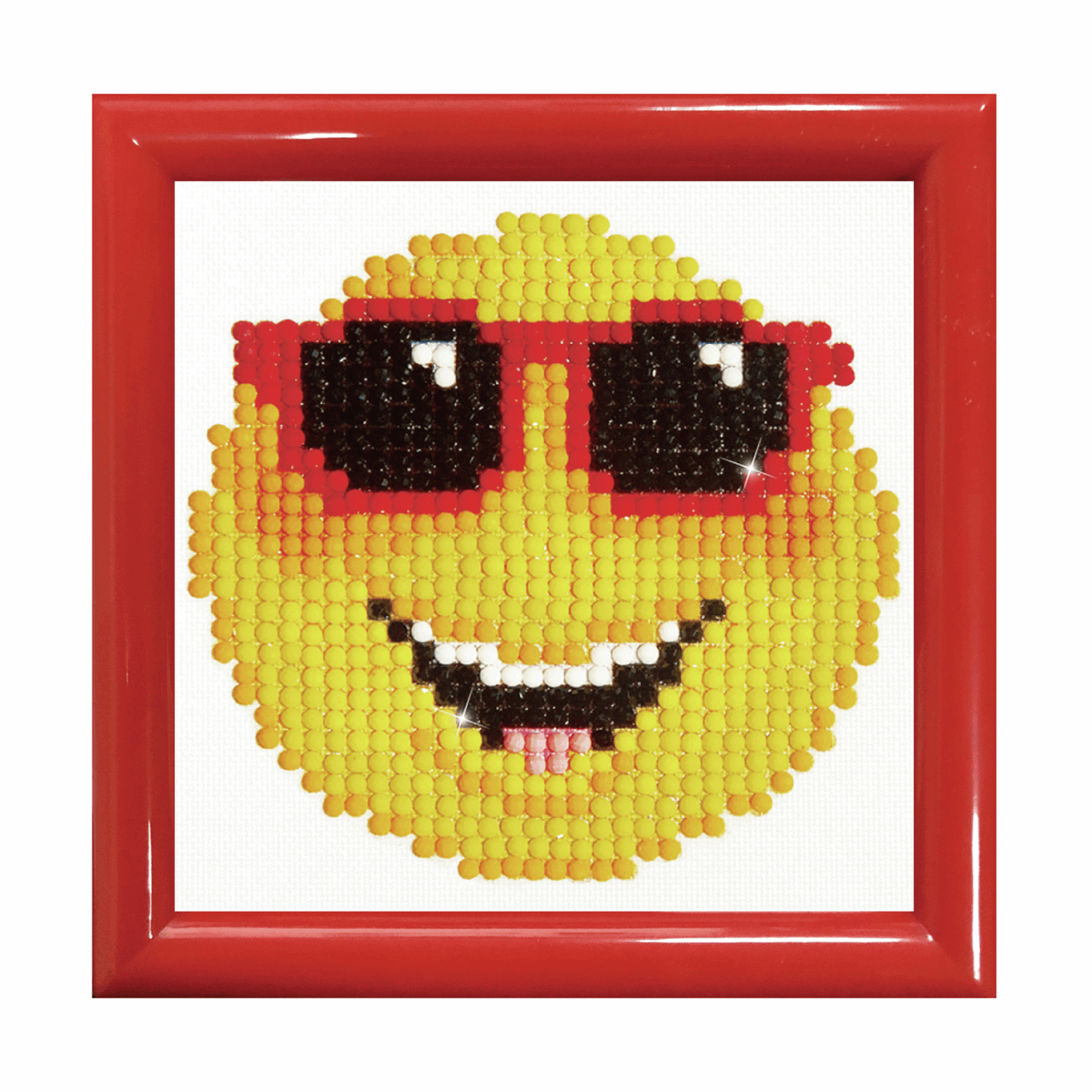Picture of Diamond Painting Kit: Smiling Face: with Frame