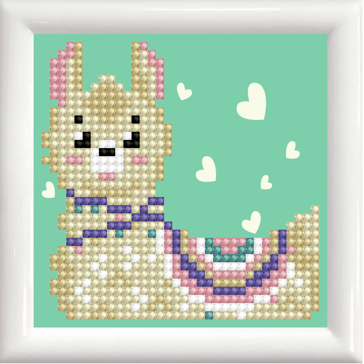 Picture of Diamond Painting Kit: Llama Heart with Frame