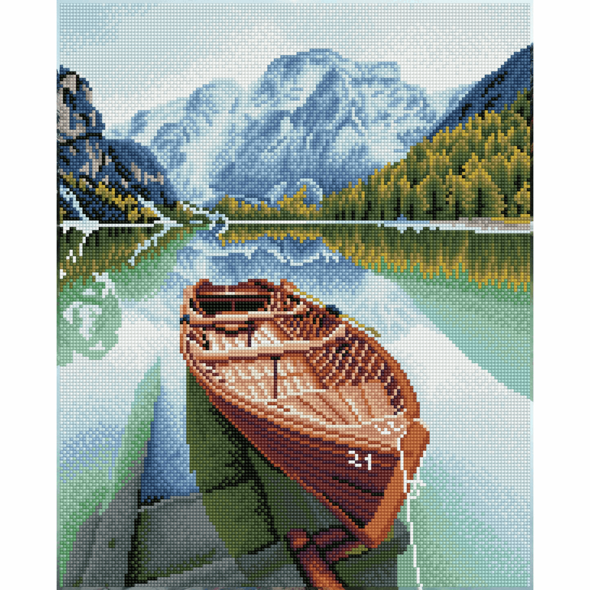 Picture of Diamond Painting Kit: Fjord Travel