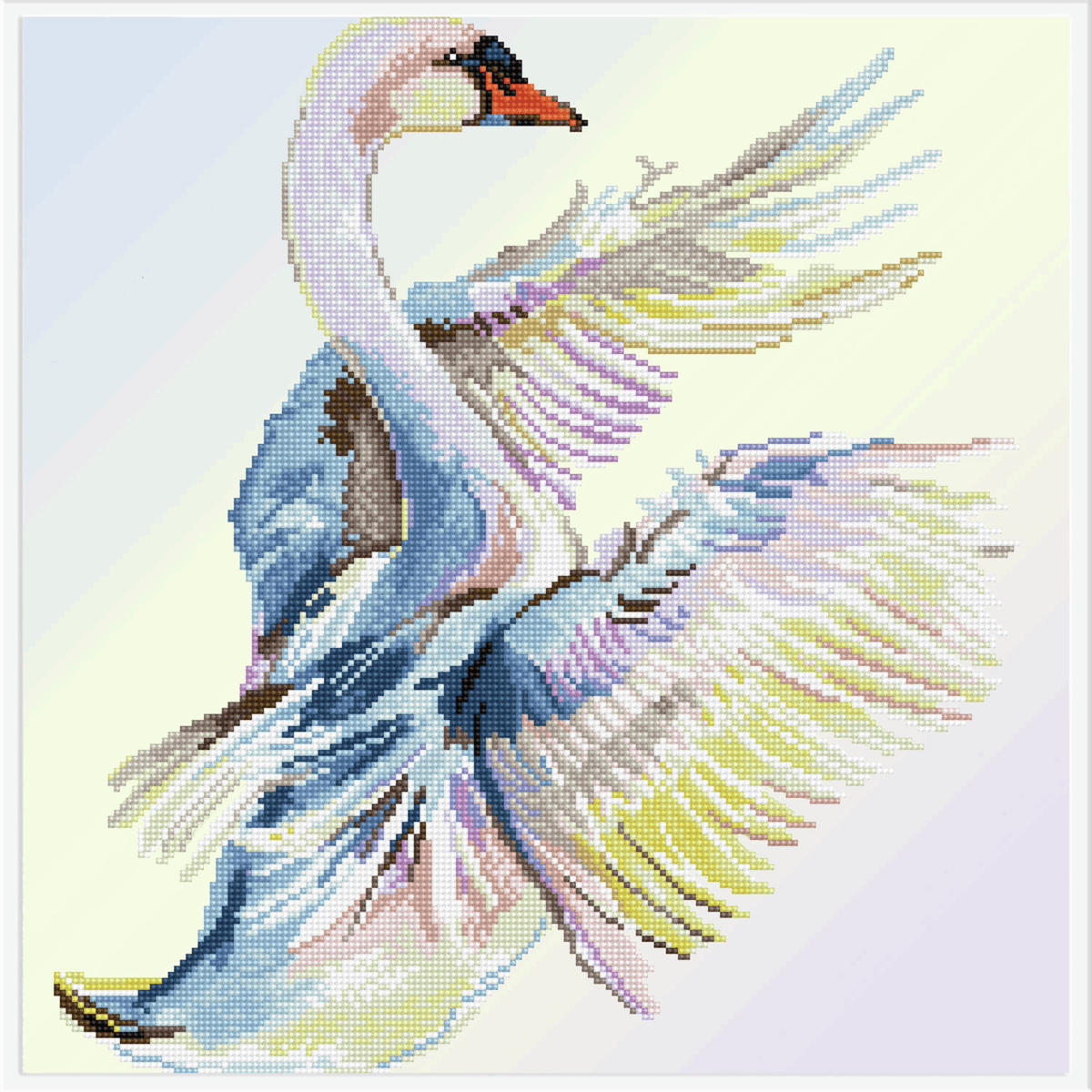 Picture of Diamond Painting: Finished Model: Graceful Landing