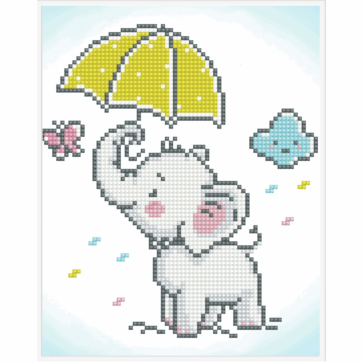 Picture of Diamond Painting: Finished Model: Baby Brollie
