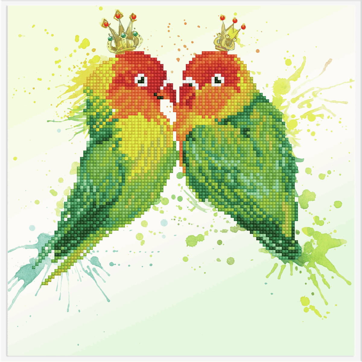 Picture of Diamond Painting: Finished Model: Love Birds