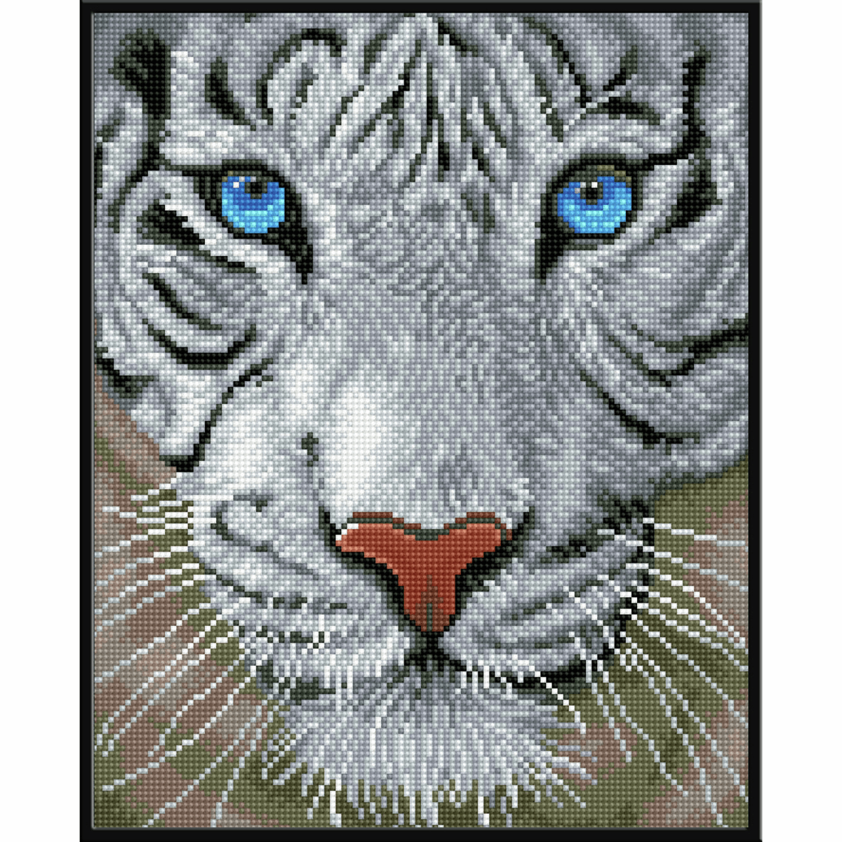 Picture of Diamond Painting: Finished Model: White Magic