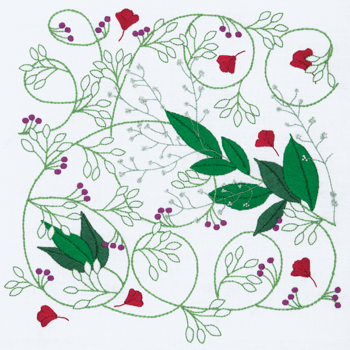 Picture of Embroidery Kit: Freestyle: Dee Hardwicke: Summer Vine