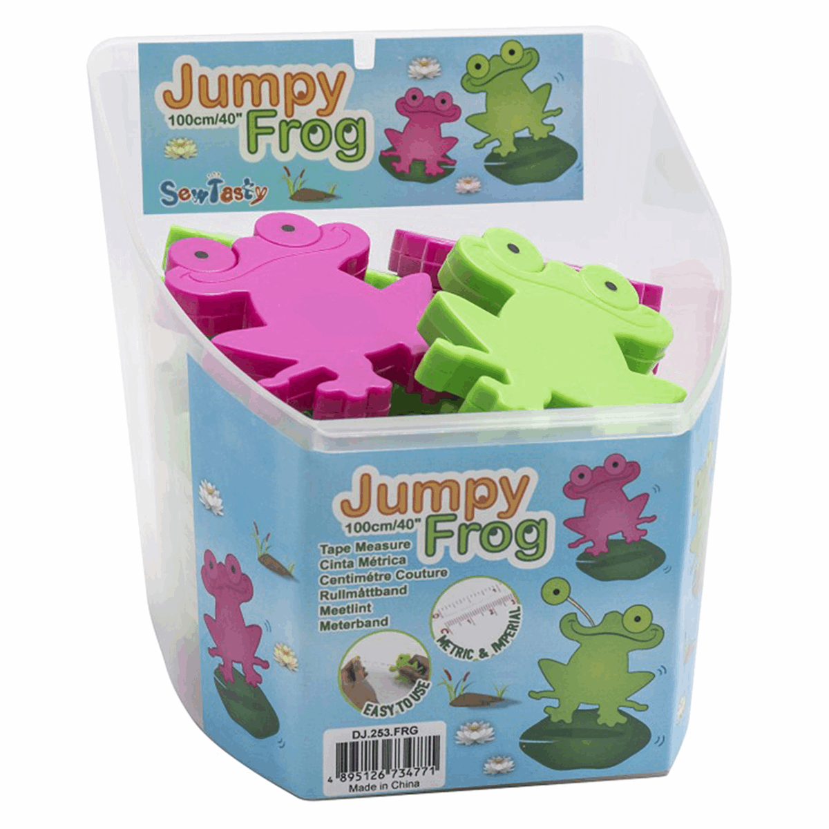 Picture of Counter Display Tub: Tape Measures: 1m: Frog: 24 Pieces