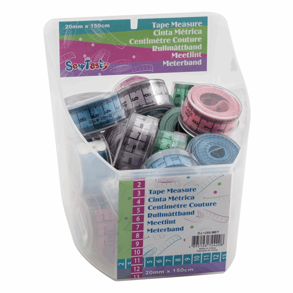 Picture of Counter Display Jar: PVC Tape Measures: 28 Pieces