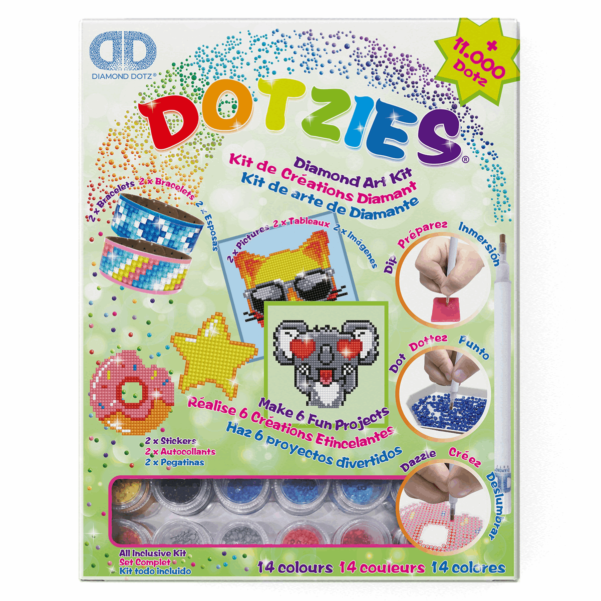 Picture of Dotzies: Diamond Art: 6 Project Kit