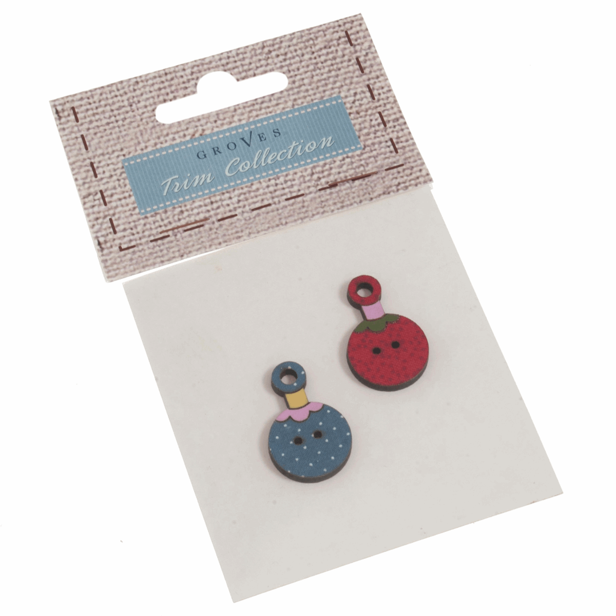 Picture of Carded Buttons: Baubles: Size: 19mm: Pack of 2