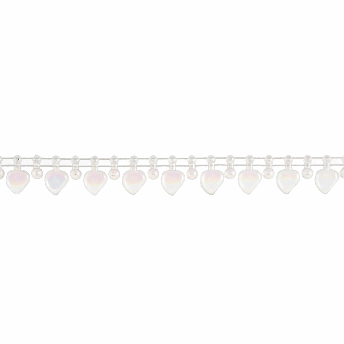 Picture of Pearl Beading: Shaped: Heart Drop: 10m x 12mm: Aurora