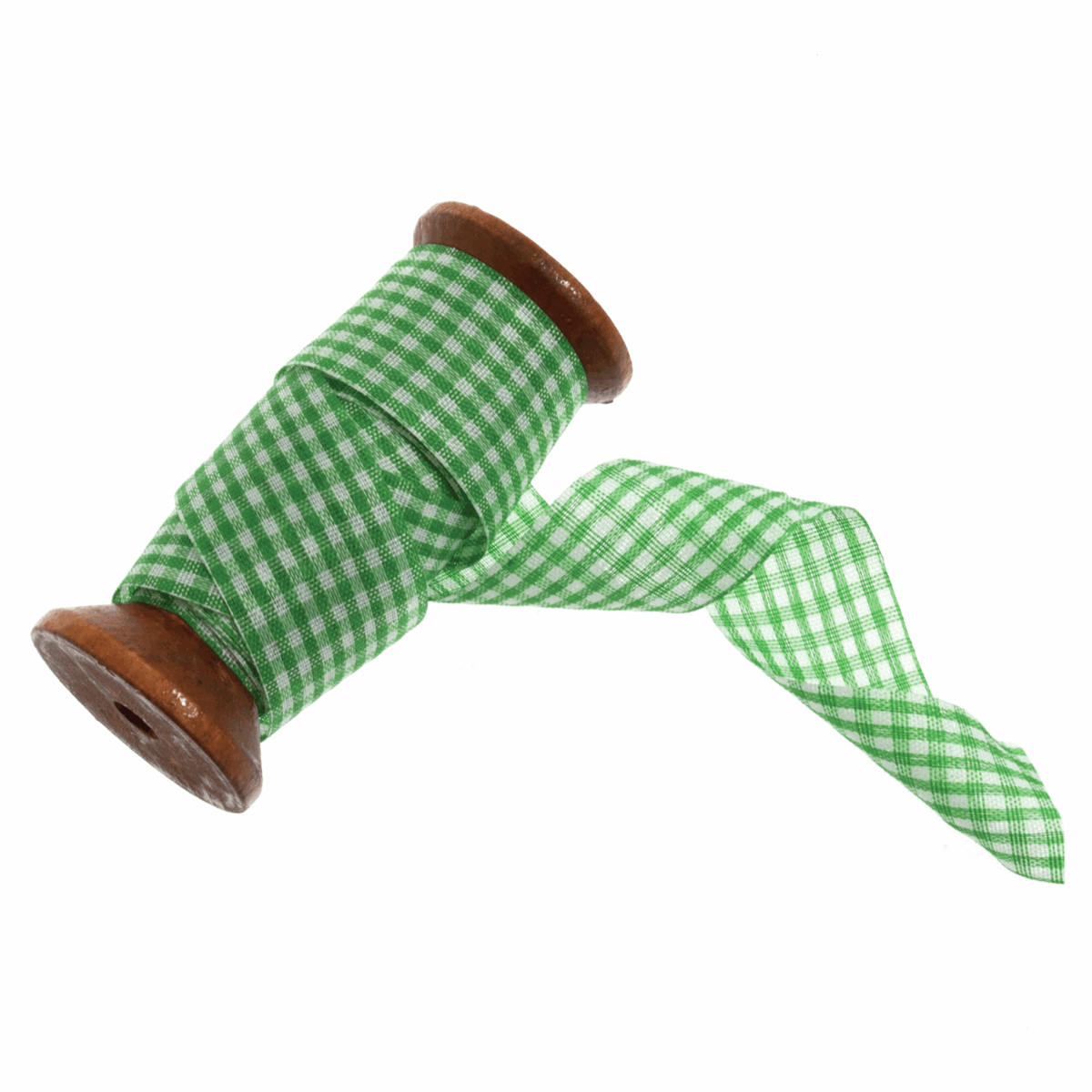 Picture of Gingham Ribbon: 5m x 25mm: Green