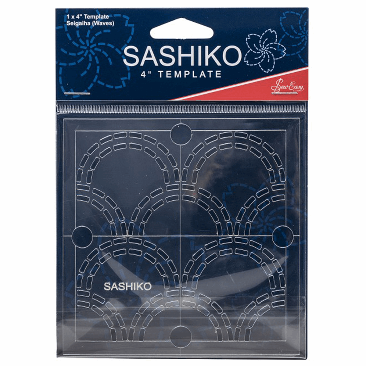 Picture of Sashiko: Template: 4in: Seigaiha (Waves)