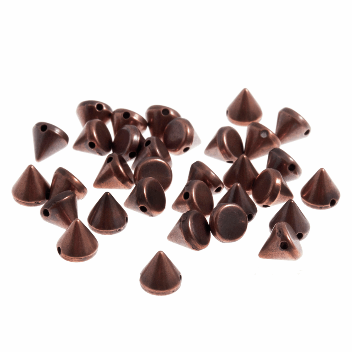 Picture of Studs: Sew-on: Cone: Copper: 6 x 6mm: 120 Pack