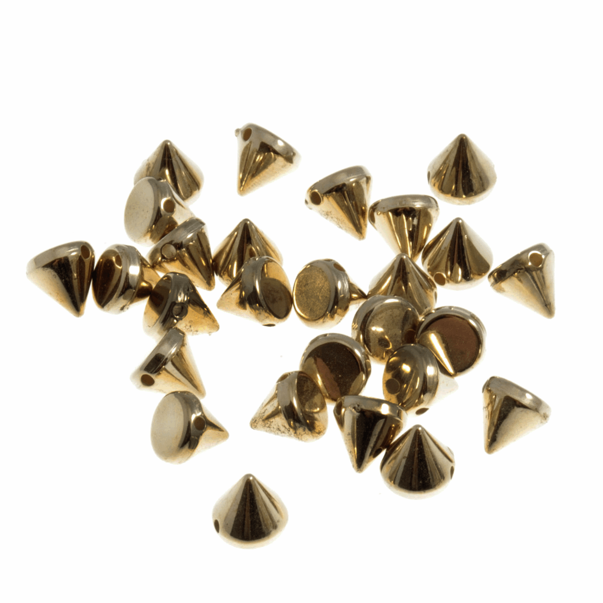 Picture of Studs: Sew-on: Cone: Gold: 6 x 6mm: 120 Pack